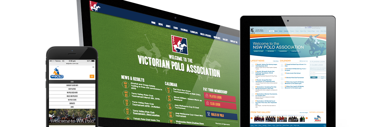 NSW, VIC, WA & Australian PoloMulti-Site Custom Content Management System