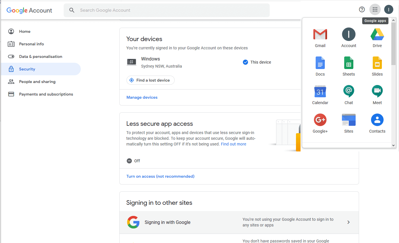 Gmail Account Security