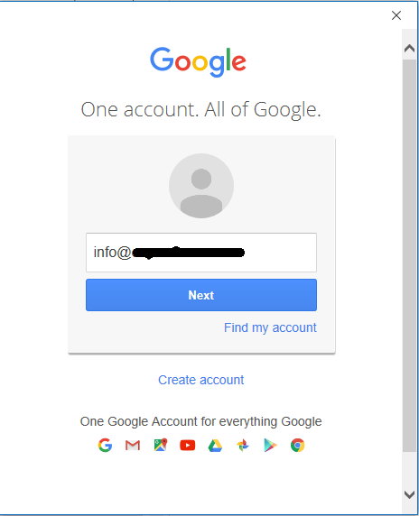 Outlook Google Login